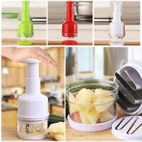 Kitchen Pressing Food Chopper Cutter Slicer Peeler Dicer Vegetable Onion Utensil