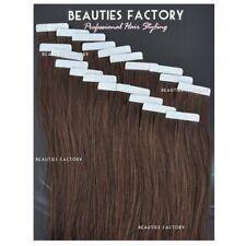 BF DIY Super Adhesive Tape in Skin Weft 100 Remy Human Hair Extensions #4 Medium Brown (hair509) 50 Gram (20pcs) Light Volume