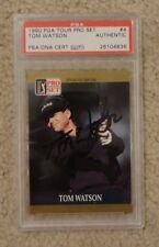 Tom Watson 1990 PGA pro set card PSA/DNA CERTIFIED