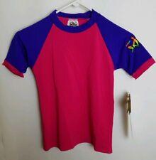 Radicool Skinz 4 Girls Kids Pink Purple Rash Guard Shirt Swimwear 100 S.P.F. E4