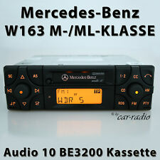 Original Mercedes Audio 10 BE3200 Kassette Becker W163 Radio M ML DIN Autoradio