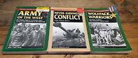 Lot Of 3 Stackpole Military History Books WWII Wolfpack Warriors Army Never 1st