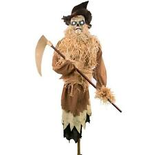 New Animated 6.5 ft The Harvester Scarecrow Halloween Prop Decoration Lights Up