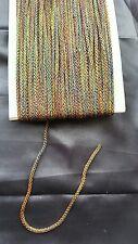 cord piping sari blouse tie tassel string antique multicolour gold latkan braid