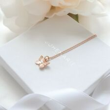 Rose Gold Plated Butterfly Necklace, Layering Necklaces, Necklaces For Women