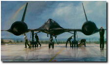 OUTRUN THE THUNDER By John Shaw ARTIST PROOF EDITION SR-71 Blackbird 65 Sigs