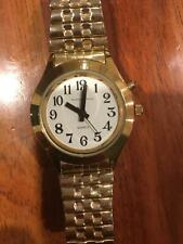 Quartz Talking watch gold in colour in excellent condition
