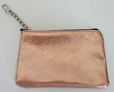 Posse Coin Purse Key Clasp Rose Gold Leather NWOT