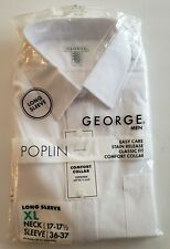 GEORGE BRAND LONG SLEEVE DRESS SHIRT SIZE XL! BRAND NEW IN PACKAGING! FRESH!