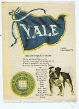 Yale College Flag Seal Song Yell S23 cigarette silk bulldog 248