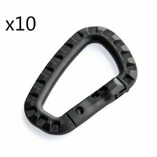 10PCS Outdoor Carabiner D-Shaped Key Chain Clip Tactical Plastic Camping Hook