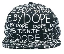 Dope Couture Dope By Dope Snapback Hat Black One Size New