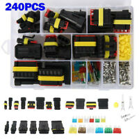 1-6Pin Way Waterproof Car Auto Electrical Wire Connector Plug Kit+Blade Fuses