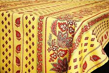 """LE CLUNY, LISA YELLOW FRENCH PROVENCE COATED TABLECLOTH, 52"""" X 72"""", NEW"""