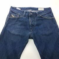 Diesel DARRON Mens Jeans W29 L31 Dark Blue Slim Fit Straight Mid Rise