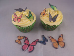Mixed Monarch Butterfly CupCake Toppers Edible Rice Paper 24 36 or 48
