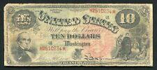 "FR. 96 1869 $10 TEN DOLLARS ""RAINBOW"" LEGAL TENDER UNITED STATES NOTE"