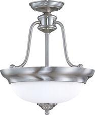Nuvo 60/1807 Glenwood 3 Light 15 inch Brushed Nickel Semi Flush Ceiling