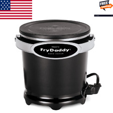 Fry Daddy Electric Deep Fryer, Durable Black Aluminum Small Kitchen Appliance US