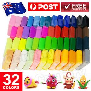 32 Color Polymer Clay Modelling Moulding Malleable Fimo Block DIY Toys
