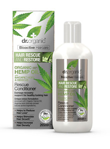 Dr. Organic bioactive HEMP oil Rescue Conditioner + Baicapil - Hair Loss 265ml