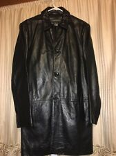 BANANA REPUBLIC BLACK LEATHER COAT / JACKET / MEN SZ Small
