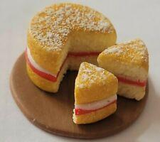 dolls house food, Victoria sponge,12th scale miniature, cake shop, bakery