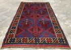 Authentic Hand Knotted Afghan Taimani Balouch Wool Area Rug 5 x 3 Ft (523 HMN)