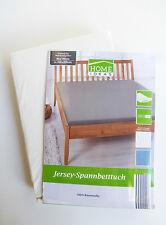 HOME IDEAS Jersey Spannbetttuch Spannbettlaken weiß weiss 90x190-100x200cm OS4