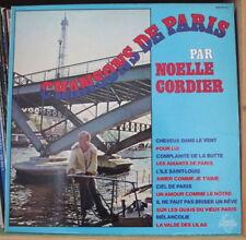 NOËLLE CORDIER CHANSONS DE PARIS RARE FRENCH LP DISQUES ESPERANCE 1976