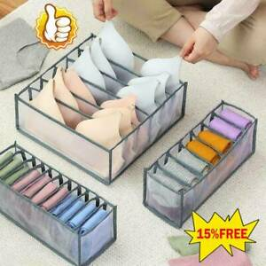 Underwear Storage Box with Compartments Socks Bra Underpants Organizer Drawers