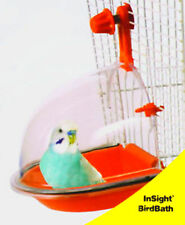 Bird Bath Bowl Cage Water Hanging Birdbath Plastic For Parakeet Lovebird Finch