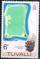Tuvalu Islands Nukufetau Atoll Map Coconut Crab stamp 1978 MNH