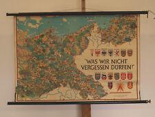 Schulwandkarte Deutschland Was Wir Nicht Vergessen Dürfen 95x65 1953 vintage map