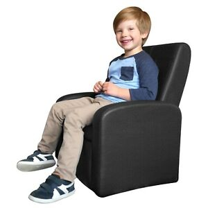 STASH Folding Upholstered Kids Chair toddler sofa chair ottoman with storage