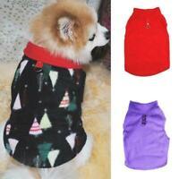 Pet Small-Dog Fleece Harness Vest Jumper Sweater Coat Jacket Shirt Apparel J5Q8