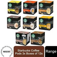 Nescafe Dolce Gusto Starbucks Coffee Pods 3x Boxes of 12s