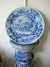 Plat (52 cm )en faience de Nevers XVII ème - décor chinois