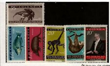 Colombia Sc 713-5,C357-9 Nh issue of 1959 - Animals