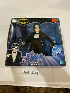 "The Penguin Gotham City Villains 9"" figure New in Box 2002 Hasbro 70560 Batman"