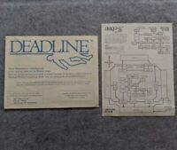 Zork Users Group Deadline Blueprints and Map Infocom rare vintage computer game