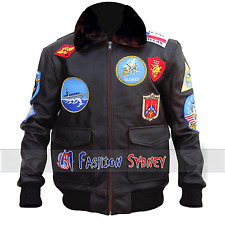 Men's Tom Cruise Top Gun High Quality Synthetic Leather Jacket. All Sizes