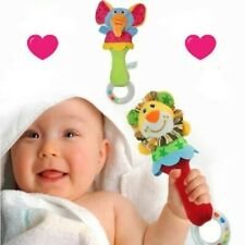 KiddieTouch Pack of 2 Plush Hand Bell Rattles Shaker Visual and Sensory Cute Toy