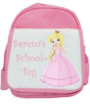 Personalisiert Mädchen Prinzessin Spielschule Kindergarten, Rucksack / Rucksack