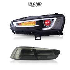VLAND Audi Style LED Headlights+Tail Lights For Mitsubishi Lancer EVO 2008-2017