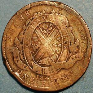 1 Penny 1842 Montreal Bank Token Canada P419