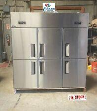 New Commercial 6 Door Refrigerator Freezer Combo Restaurant Kitchen Model Al46