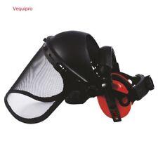 Visière grillagée protection du visage relevable +  anti-bruit  débroussaillage