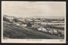RP Postcard BURRY PORT WALES  Harbor Town Area Bird's Eye Aerial view 1940's