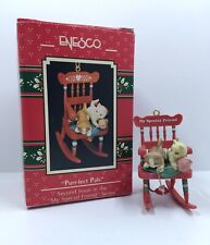 Enesco Purr-fect Pals Christmas Kittens On A Rocker New In Box